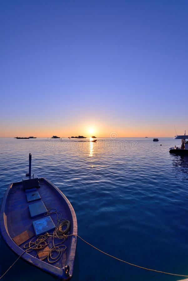 Ηλιοβασίλεμα των Μαλδίβες στοκ εικόνα