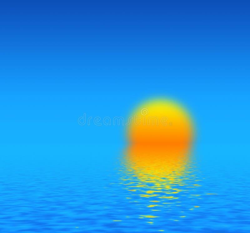 Ηλιοβασίλεμα. ελεύθερη απεικόνιση δικαιώματος