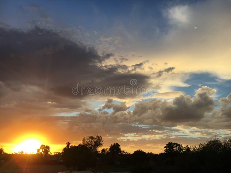 Ηλιοβασίλεμα 1 AZ στοκ φωτογραφία
