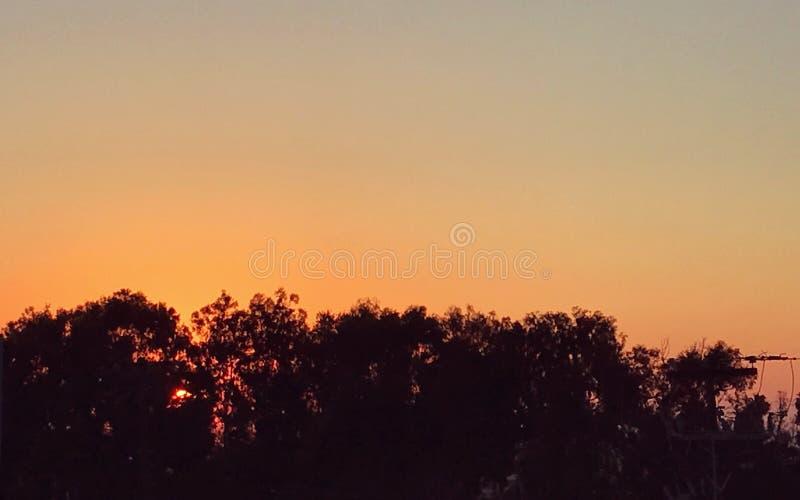 Ηλιοβασίλεμα Baja στοκ εικόνες