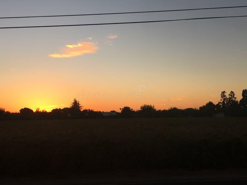 Ηλιοβασίλεμα Nor*Cal στοκ φωτογραφία με δικαίωμα ελεύθερης χρήσης