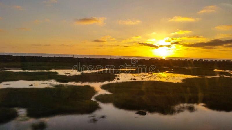 Ηλιοβασίλεμα Carlsbad στοκ εικόνες