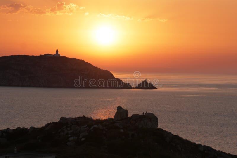 Ηλιοβασίλεμα corse στοκ εικόνες με δικαίωμα ελεύθερης χρήσης