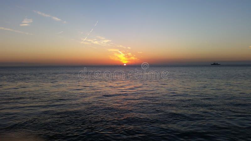 Ηλιοβασίλεμα - Cuxhaven στοκ εικόνες με δικαίωμα ελεύθερης χρήσης