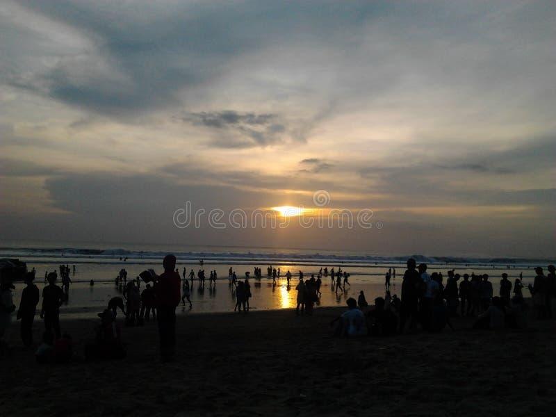 Ηλιοβασίλεμα Kuta στοκ εικόνες