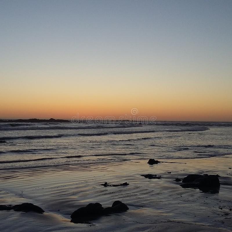 Ηλιοβασίλεμα Langebaan στοκ φωτογραφίες με δικαίωμα ελεύθερης χρήσης