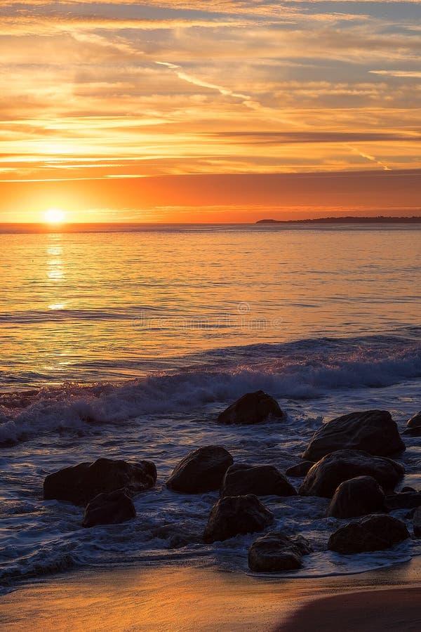 Ηλιοβασίλεμα Malibu στοκ φωτογραφία με δικαίωμα ελεύθερης χρήσης