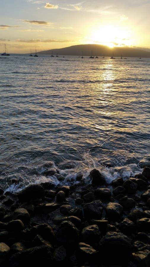ηλιοβασίλεμα Maui στοκ φωτογραφία