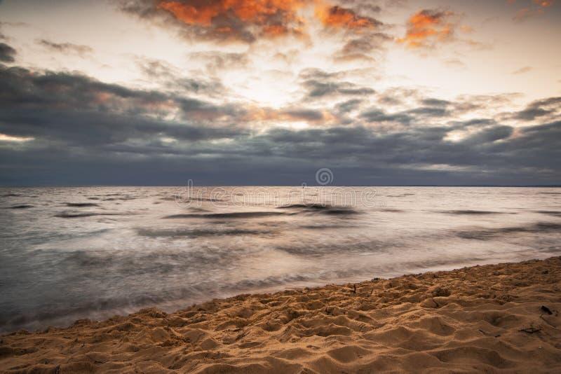 Ηλιοβασίλεμα Mellby στοκ εικόνα