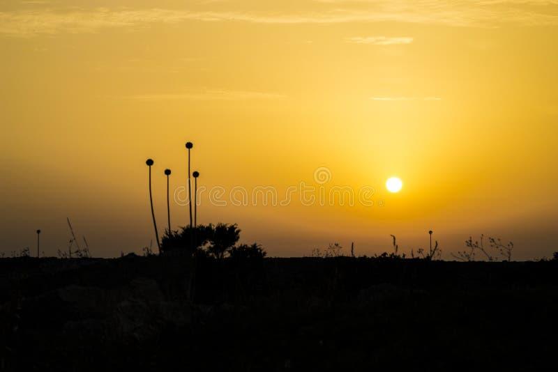 Ηλιοβασίλεμα Minorca στοκ εικόνα με δικαίωμα ελεύθερης χρήσης