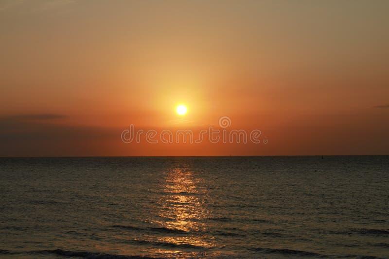 Ηλιοβασίλεμα Norderney στοκ εικόνες