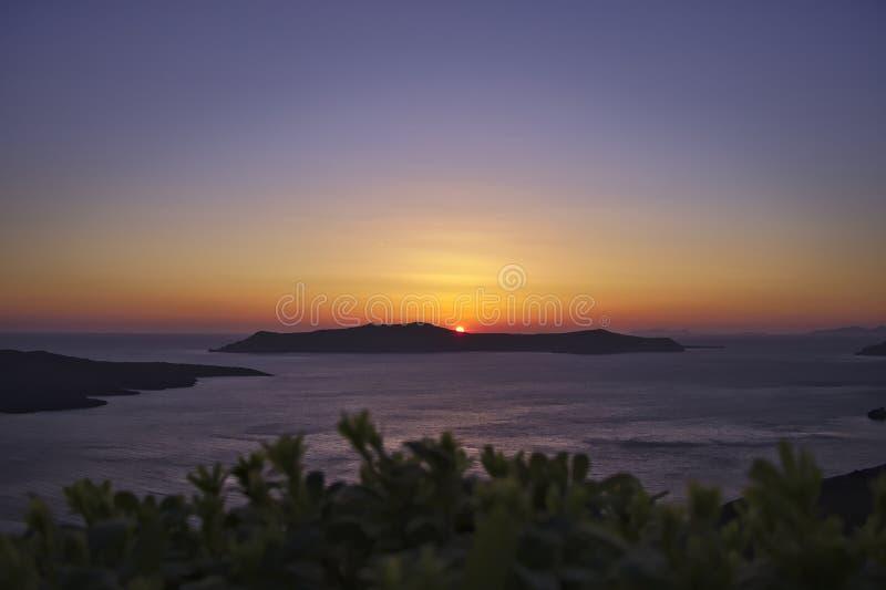 Ηλιοβασίλεμα Santorini στοκ φωτογραφίες