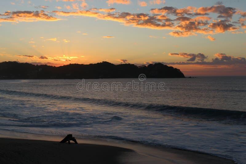 Ηλιοβασίλεμα Sayulita στοκ φωτογραφίες