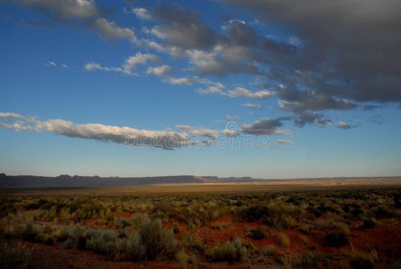 Ηλιοβασίλεμα Scape εδάφους ερήμων της Αριζόνα στοκ φωτογραφίες με δικαίωμα ελεύθερης χρήσης