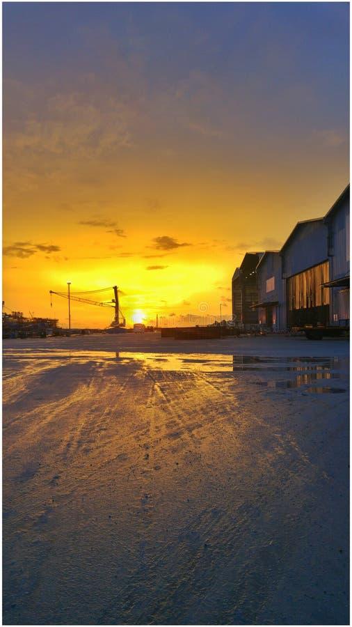 Ηλιοβασίλεμα sikb στοκ εικόνα