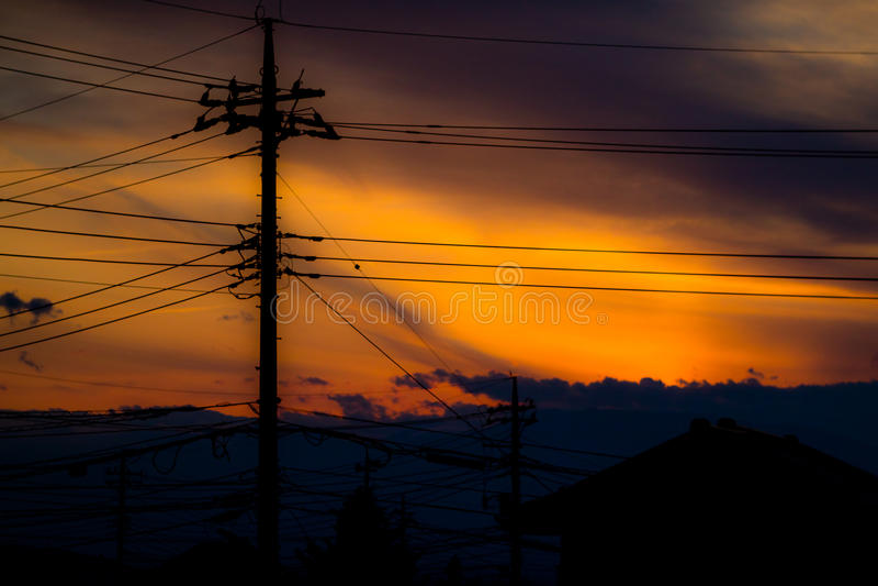 Ηλιοβασίλεμα Smokey στοκ φωτογραφίες με δικαίωμα ελεύθερης χρήσης