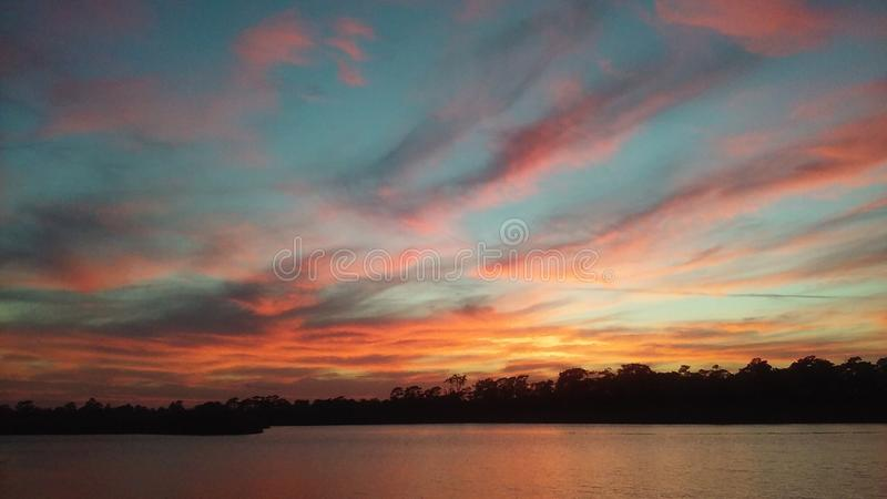 Ηλιοβασίλεμα tranquility& x27 s†‹ στοκ εικόνες με δικαίωμα ελεύθερης χρήσης