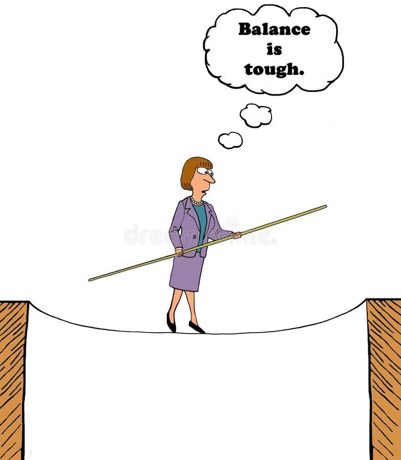 Η ισορροπία είναι σκληρή ελεύθερη απεικόνιση δικαιώματος