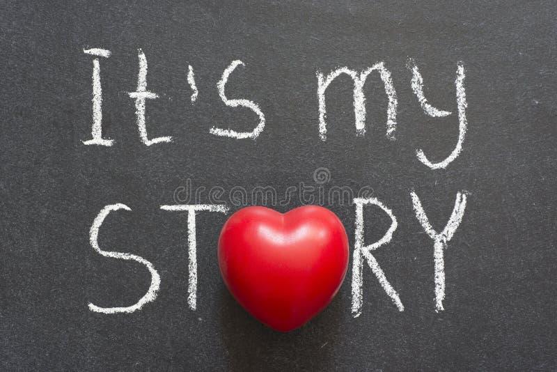 η ιστορία μου στοκ φωτογραφίες