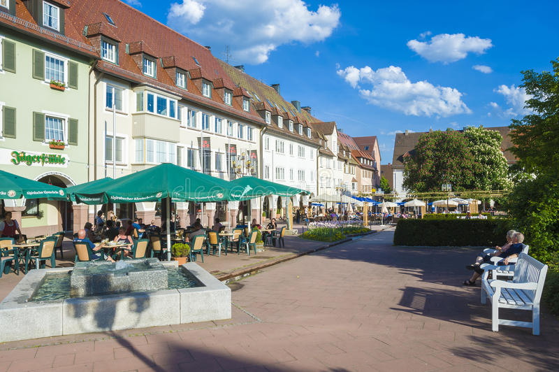 Η ιστορική ανώτερη αγορά σε Freudenstadt στοκ εικόνες