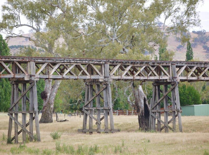 Η ιστορική γέφυρα σιδηροδρόμων σε Gundagai στοκ εικόνες