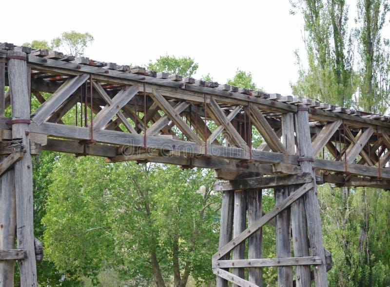 Η ιστορική γέφυρα σιδηροδρόμων σε Gundagai στοκ φωτογραφίες με δικαίωμα ελεύθερης χρήσης