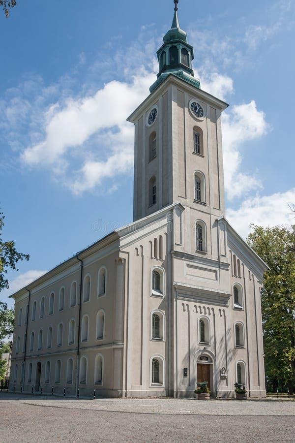 Η ιστορική εκκλησία εβαγγελικός-Άουγκσμπουργκ του John ο βαπτιστικός σε bielsko-Biala στοκ εικόνα με δικαίωμα ελεύθερης χρήσης