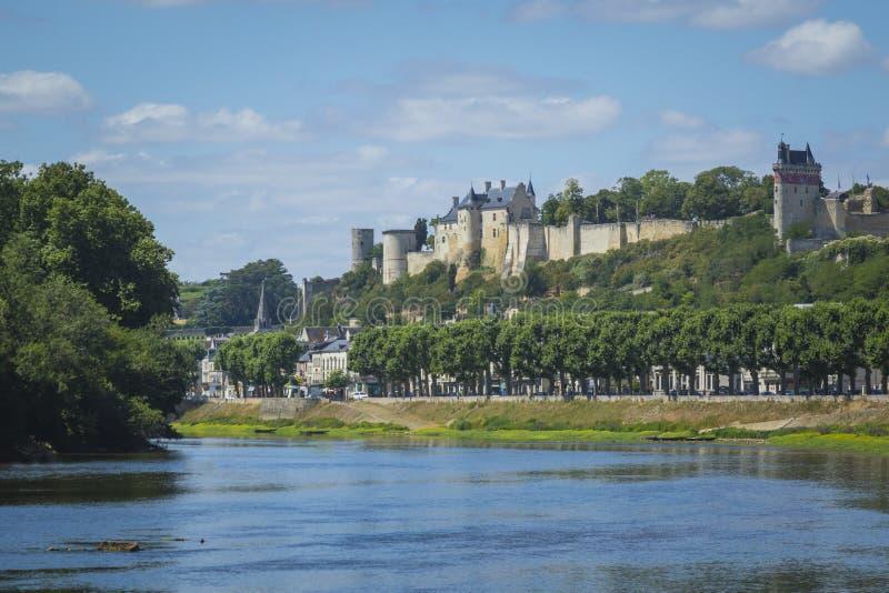 Η ιστορική πόλη Chinon, Γαλλία στοκ εικόνες με δικαίωμα ελεύθερης χρήσης