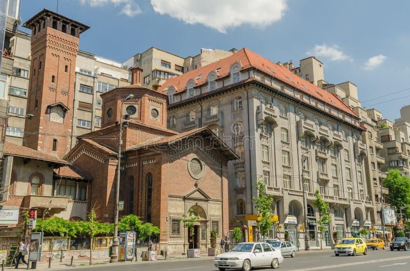Η ιταλική εκκλησία του πιό ιερού απελευθερωτή στοκ εικόνες με δικαίωμα ελεύθερης χρήσης