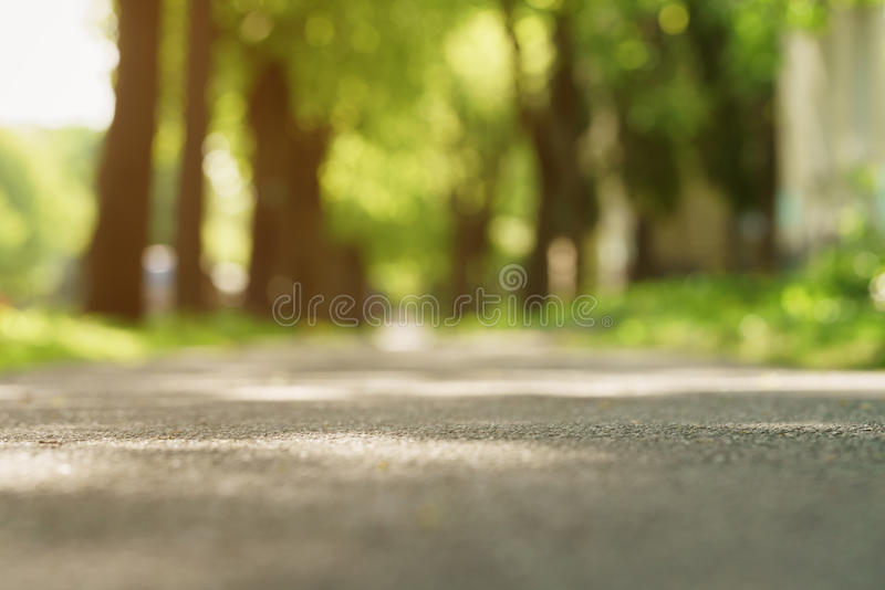 Ηλιόλουστο μικρό πεζοδρόμιο θερινής ημέρας κοντά στη φωτογραφία groun στοκ φωτογραφίες με δικαίωμα ελεύθερης χρήσης