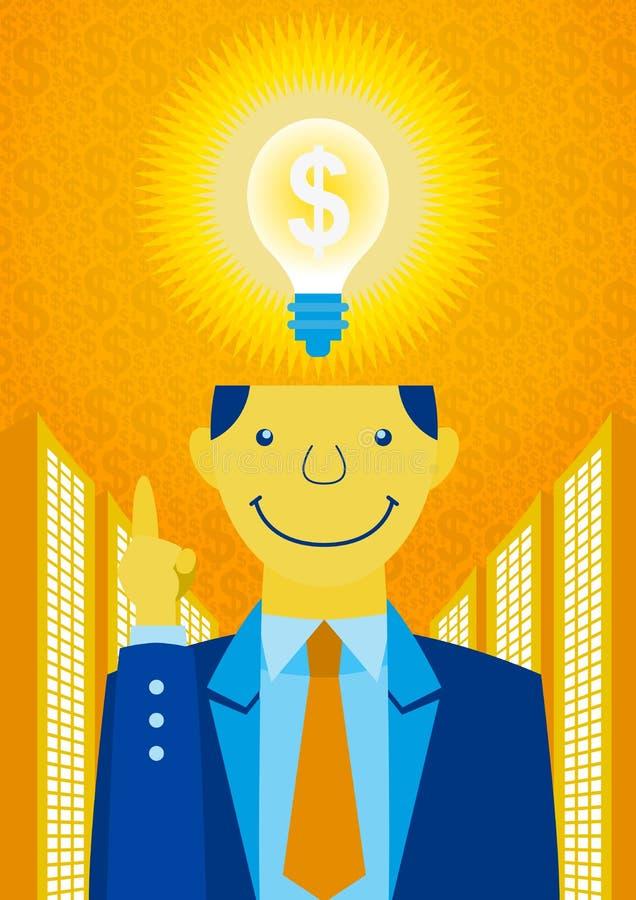 Η ιδέα να γίνουν τα χρήματα απεικόνιση αποθεμάτων