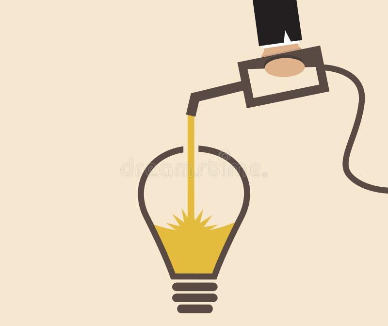 Η ιδέα lightbulb ξαναγεμίζεται διανυσματική απεικόνιση