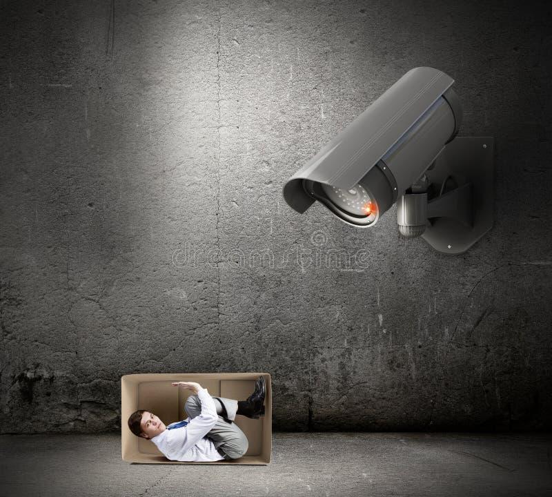 Η κάμερα παρακολουθεί το άτομο στοκ εικόνες με δικαίωμα ελεύθερης χρήσης