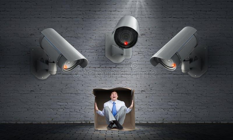 Η κάμερα παρακολουθεί το άτομο στοκ φωτογραφίες με δικαίωμα ελεύθερης χρήσης
