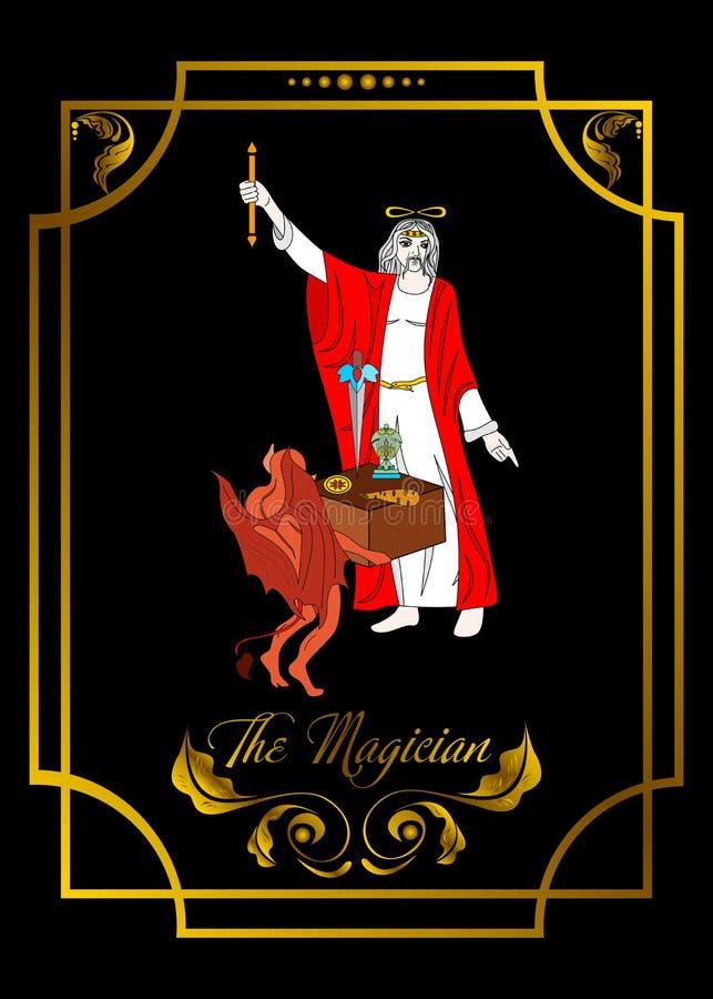 Η κάρτα ατόμων μάγων είναι μαγική κάρτα για taro με το άτομο 2 ελεύθερη απεικόνιση δικαιώματος
