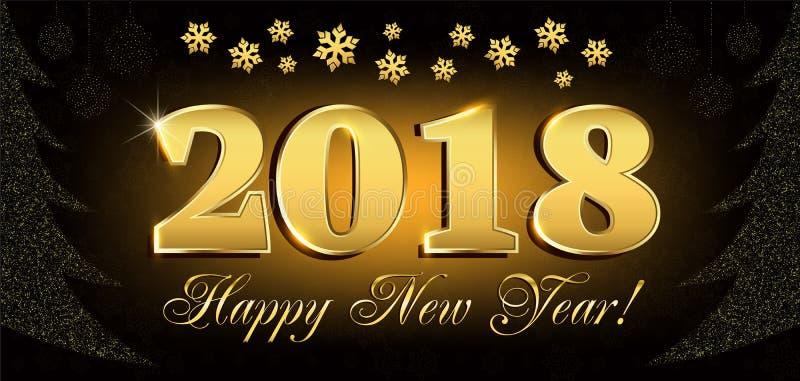 2018 η κάρτα ιπτάμενων και χαιρετισμών καλής χρονιάς ή τα Χριστούγεννα οι προσκλήσεις με τον αριθμό του νέου δέντρου έτους από το ελεύθερη απεικόνιση δικαιώματος