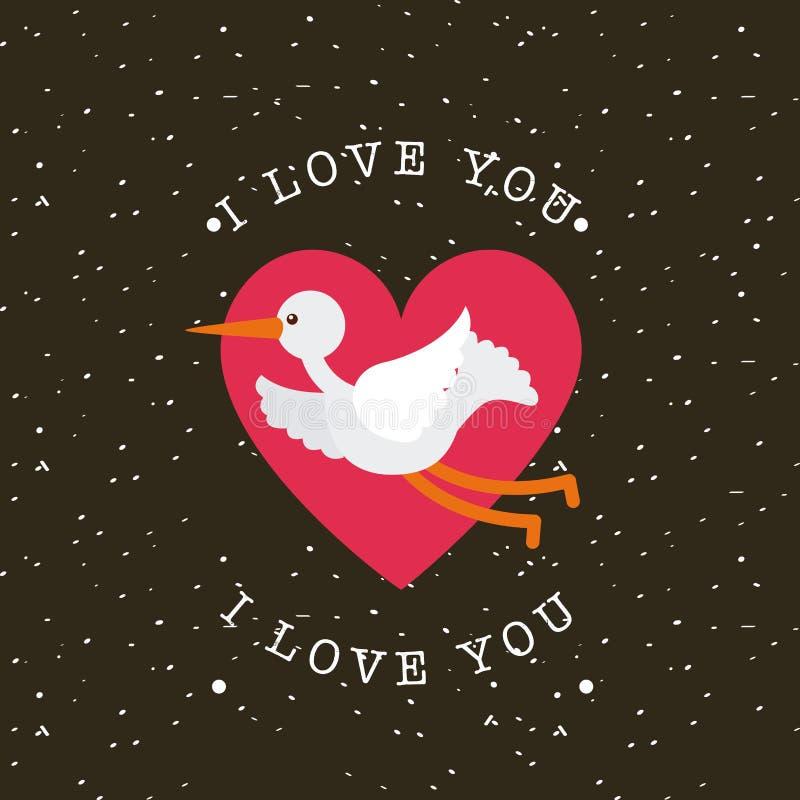 η κάρτα ι σας αγαπά διανυσματική απεικόνιση