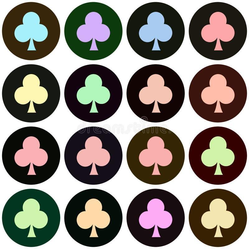 Η κάρτα παιχνιδιού ταιριάζει το άνευ ραφής σχέδιο σημαδιών backgroundseamless EPS 10 απεικόνιση χρησιμοποιημένος για την εκτύπωση διανυσματική απεικόνιση