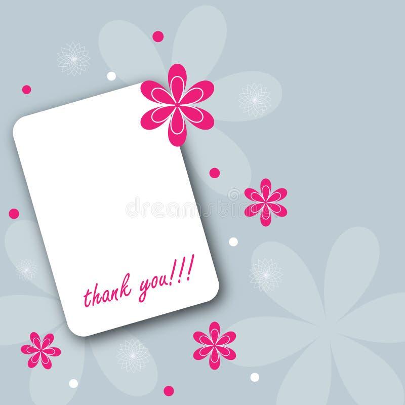 η κάρτα σας ευχαριστεί απεικόνιση αποθεμάτων