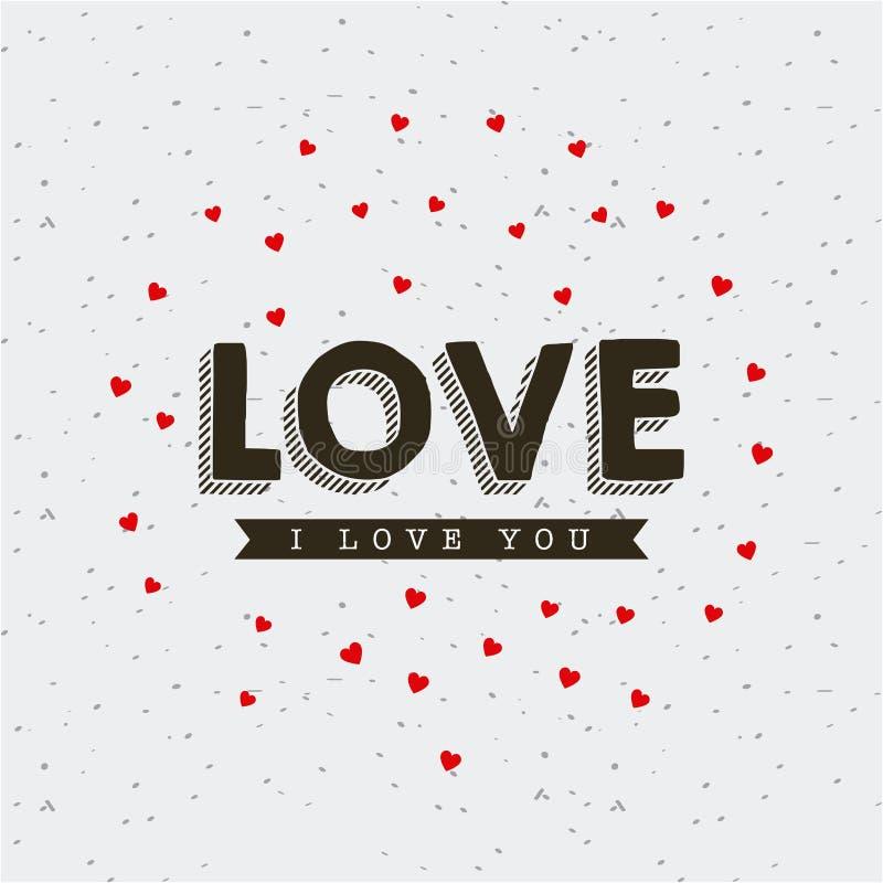 Η κάρτα της αγάπης ι εσείς σχεδιάζει απεικόνιση αποθεμάτων