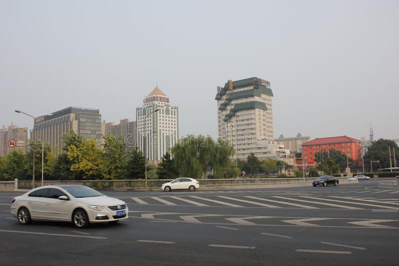 Η κάτω άποψη κατά το στάση στη γέφυρα TAORAN σε Peiking στοκ εικόνες