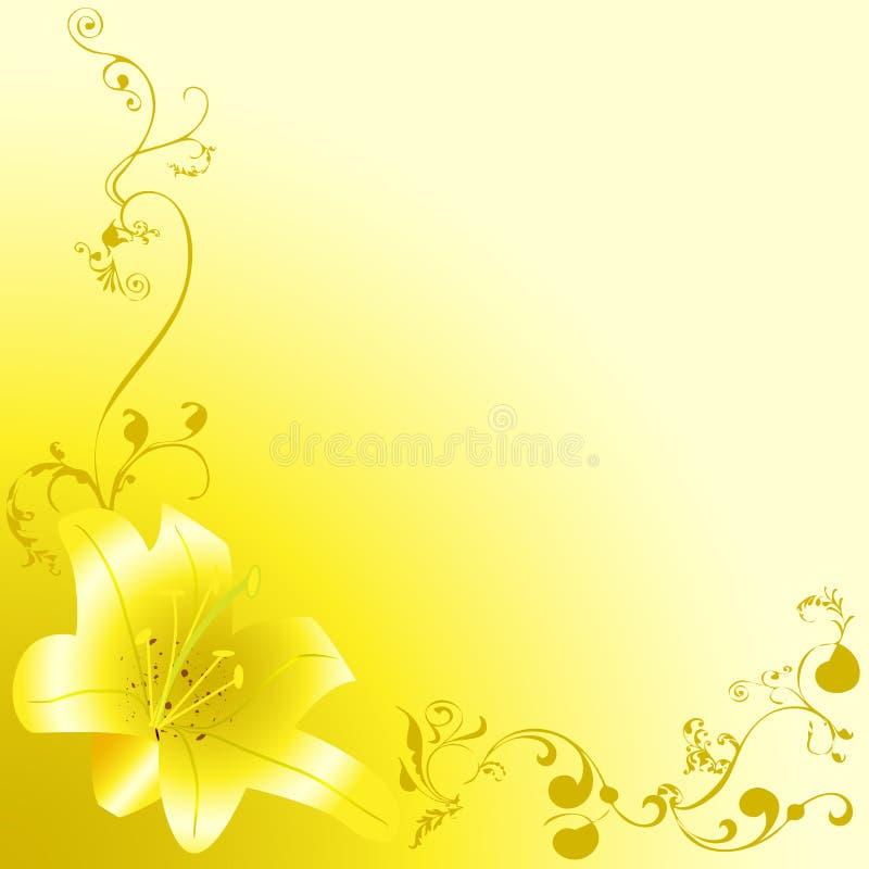 Η κίτρινη Lili διανυσματική απεικόνιση
