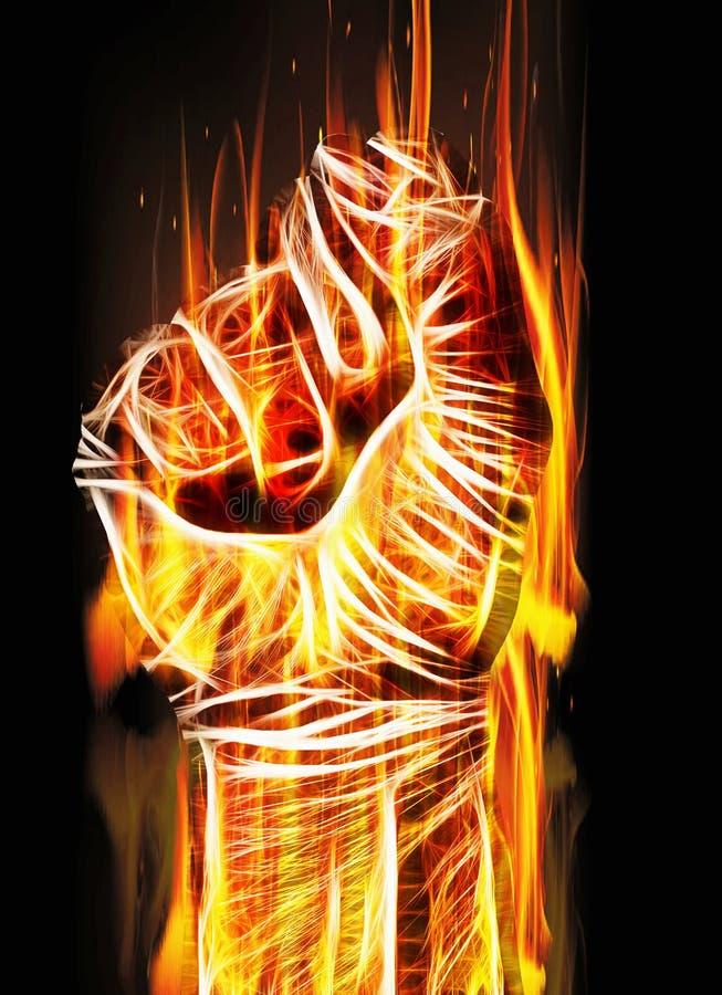 Download Η καίγοντας πυγμή στοκ εικόνες. εικόνα από κάψιμο, και - 62719464