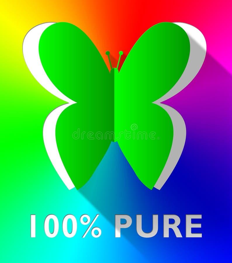 Η καθαρή πεταλούδα εκατό τοις εκατό παρουσιάζει υγιεινή τρισδιάστατη απεικόνιση απεικόνιση αποθεμάτων