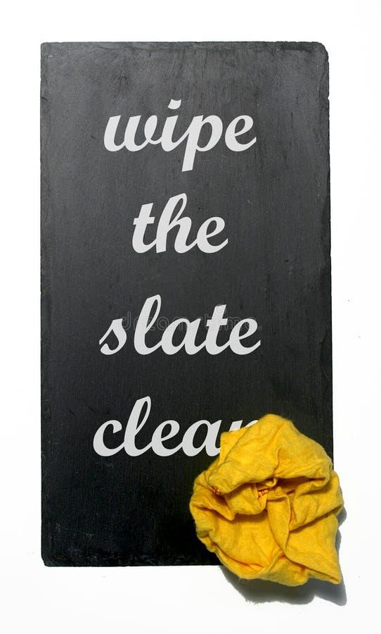 η καθαρή πλάκα σκουπίζει στοκ φωτογραφία