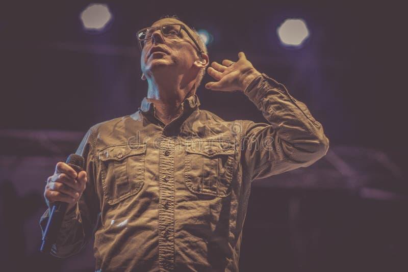 Η κακή θρησκεία, Greg Graffin, ζει συναυλία πιό bayfest το 2018 στοκ φωτογραφία με δικαίωμα ελεύθερης χρήσης