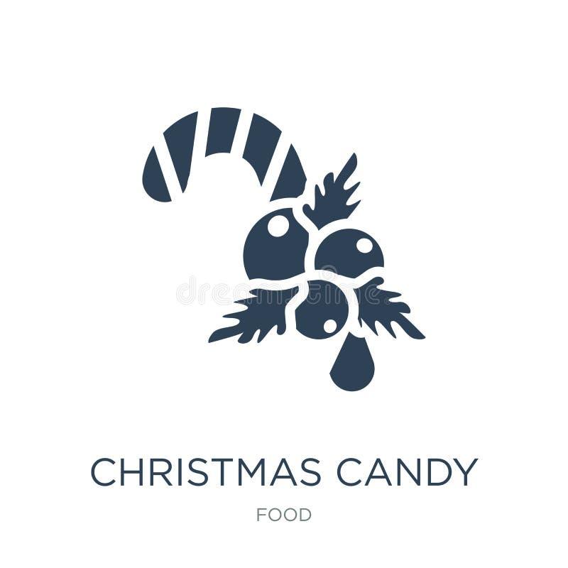η καραμέλα Χριστουγέννων κολλά το εικονίδιο στο καθιερώνον τη μόδα ύφος σχεδίου η καραμέλα Χριστουγέννων κολλά το εικονίδιο που α απεικόνιση αποθεμάτων