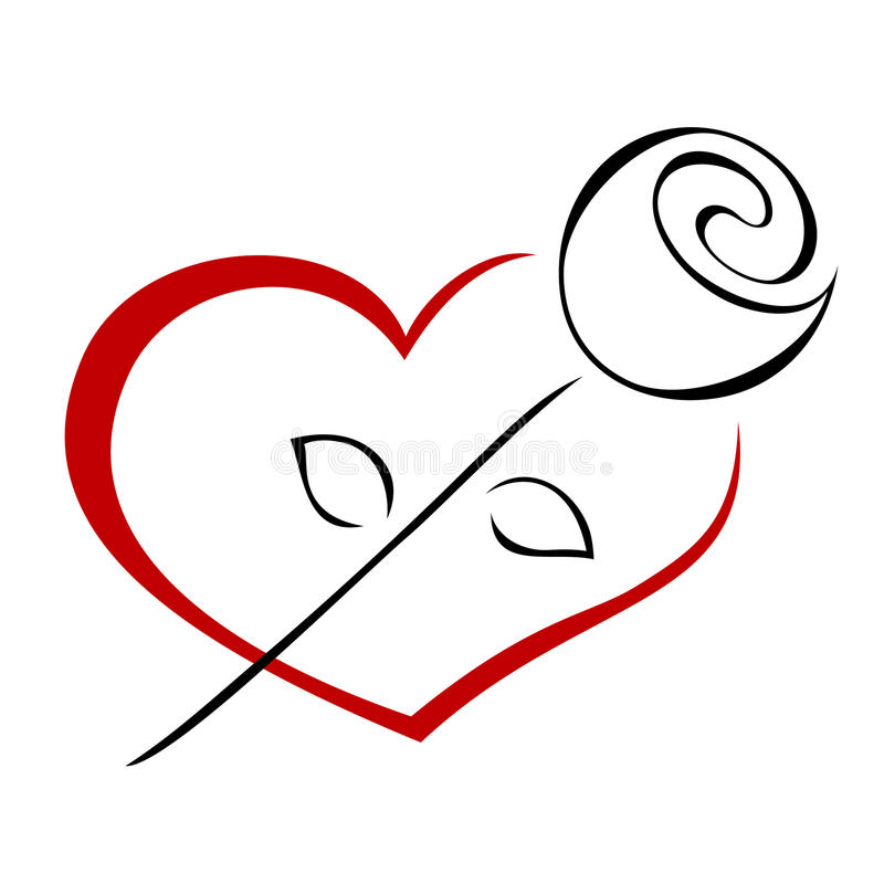 η καρδιά αυξήθηκε απεικόνιση αποθεμάτων