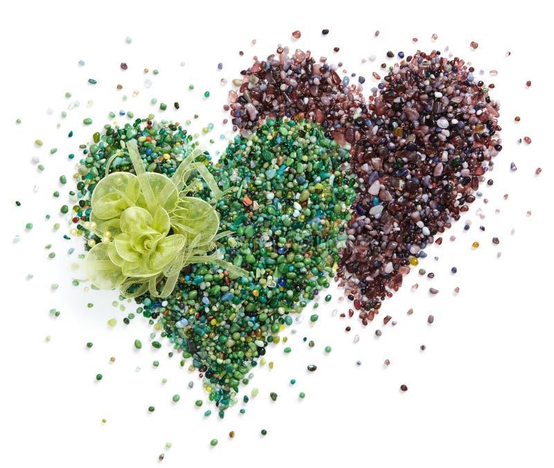 η καρδιά διαμορφώνει δύο στοκ εικόνες με δικαίωμα ελεύθερης χρήσης