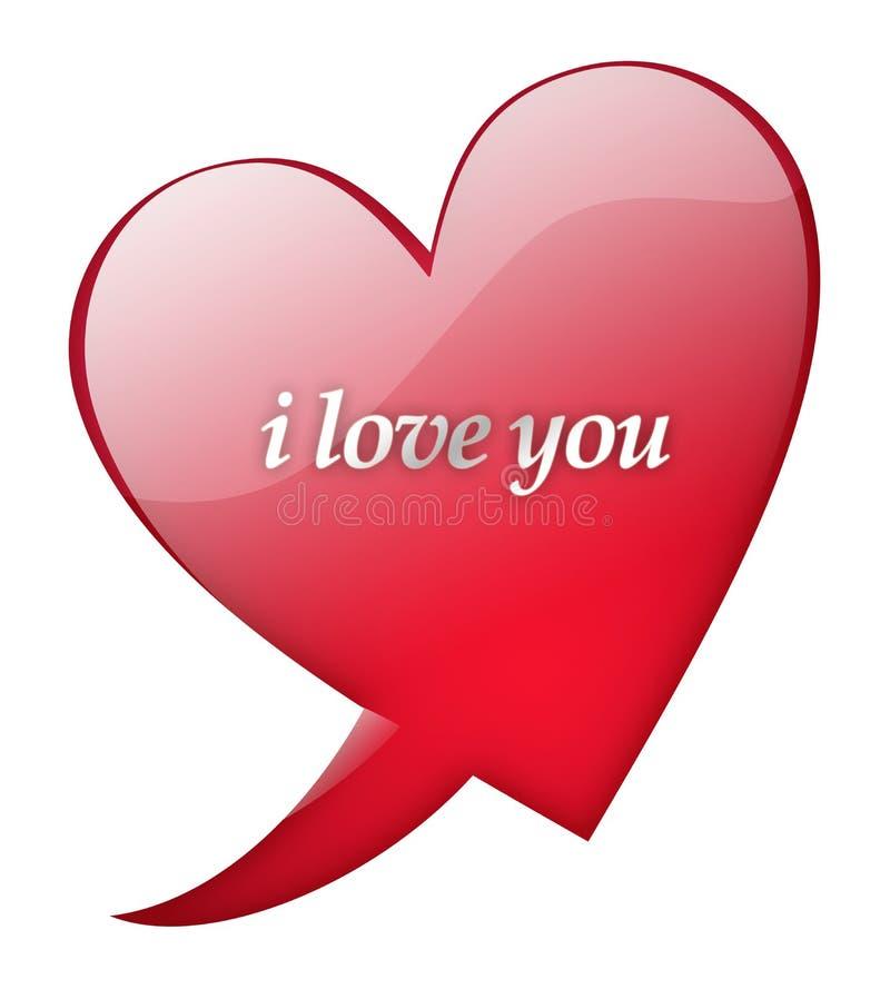 η καρδιά ι σας αγαπά διανυσματική απεικόνιση